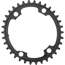 absoluteBLACK Road Oval Chainring 2-speed 110BCD for Shimano 9100/8000 black